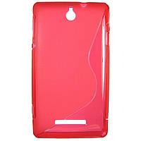 Чехол S-Line для Sony Xperia E c1505 c1605 Red
