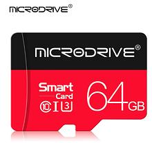 Карта памяти для планшета и телефона Micro SD MicroDrive64 Gb class 10 U3