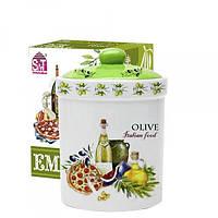 Банка для сыпучих продуктов 990 мл Итальянские блюда 6923-13
