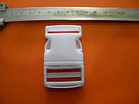 Фастекс пластиковый (карабин) 30мм белый
