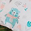 Подушка, 30*30 см, (хлопок), (бирюзовые медведи на белом), фото 3