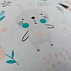 Подушка, 30*30 см, (хлопок), (бирюзовые медведи на белом), фото 4