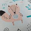 Подушка, 30*30 см, (хлопок), (бирюзовые медведи на белом), фото 5