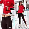 """Триколірний спортивний костюм жіночий з лампасами Adidas """"Attractive"""", фото 2"""