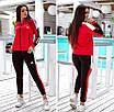 """Триколірний спортивний костюм жіночий з лампасами Adidas """"Attractive"""", фото 3"""