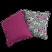 Подушка, 40*40 см, (хлопок), (свадьба фламинго на сером), фото 4