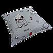Подушка, 40*40 см, (хлопок), (бульдоги на сером), фото 2