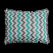 Подушка, 45*35 см, (хлопок), (серо-мятный зигзаг на белом (14 мм), фото 2