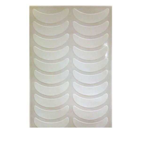 Виниловые патчи для наращивания ресниц на белой основе (1 лист)