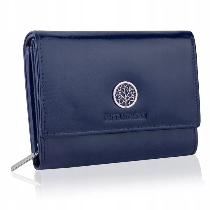 Шкіряний гаманець BETLEWSKI з RFID 13.5 х 10.5 х 4 (BPD-SB-11) - синій