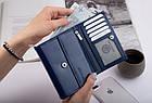 Шкіряний гаманець BETLEWSKI з RFID 13.5 х 10.5 х 4 (BPD-SB-11) - синій, фото 2