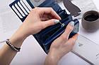 Шкіряний гаманець BETLEWSKI з RFID 13.5 х 10.5 х 4 (BPD-SB-11) - синій, фото 5
