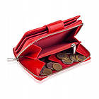Жіночий шкіряний гаманець Betlewski з RFID 9 х 13,5 х 3,5 (BPD-SB-19) - червоний, фото 6