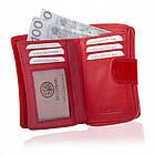 Жіночий шкіряний гаманець Betlewski з RFID 9 х 13,5 х 3,5 (BPD-SB-19) - червоний, фото 7