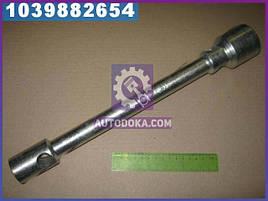 Ключ балонный ГАЗ , ЗИЛ (21х41) (квадрат 21 под футорку, L=400 mm)(цинк)  ИП-315