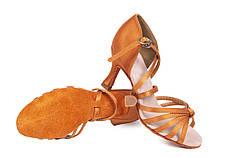 Босоножки для бальных танцев A 2100-25 7,5 см каблук Кедр