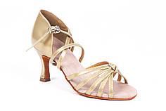 Босоножки для бальных танцев A 2100-2 7,5 см каблук Золото