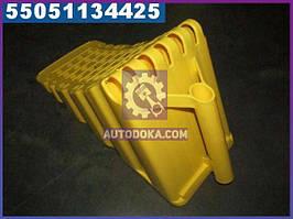 ⭐⭐⭐⭐⭐ Упор противооткатный пластиковий 470х200х230мм жовтий (виробництво Петропласт) PPL 70500129