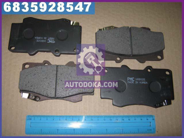 Колодки тормозные дисковые ТОЙОТА FORTUNER 05- (производство  PARTS-MALL)  PKF-024