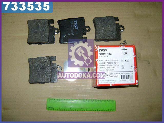 Купить Тормозные колодки, Колодки тормозные Mercedes E-CLASS (W210) задние (производство TRW) МЕРСЕДЕС, ЦЛК, GDB1334