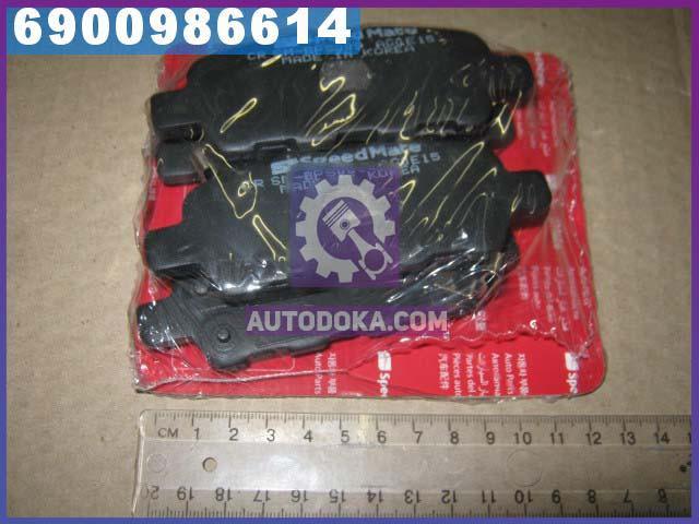 Колодки тормозные дисковые НИССАН QASHQAI, TIIDA, X-TRAIL задние (производство  SPEEDMATE, Korea)  SM-BPS009