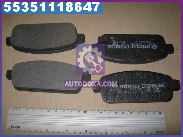 Колодка торм. диск. ШЕВРОЛЕТ Cruze, Opel Astra J 2009 - задн. (производство  Intelli)  D283E