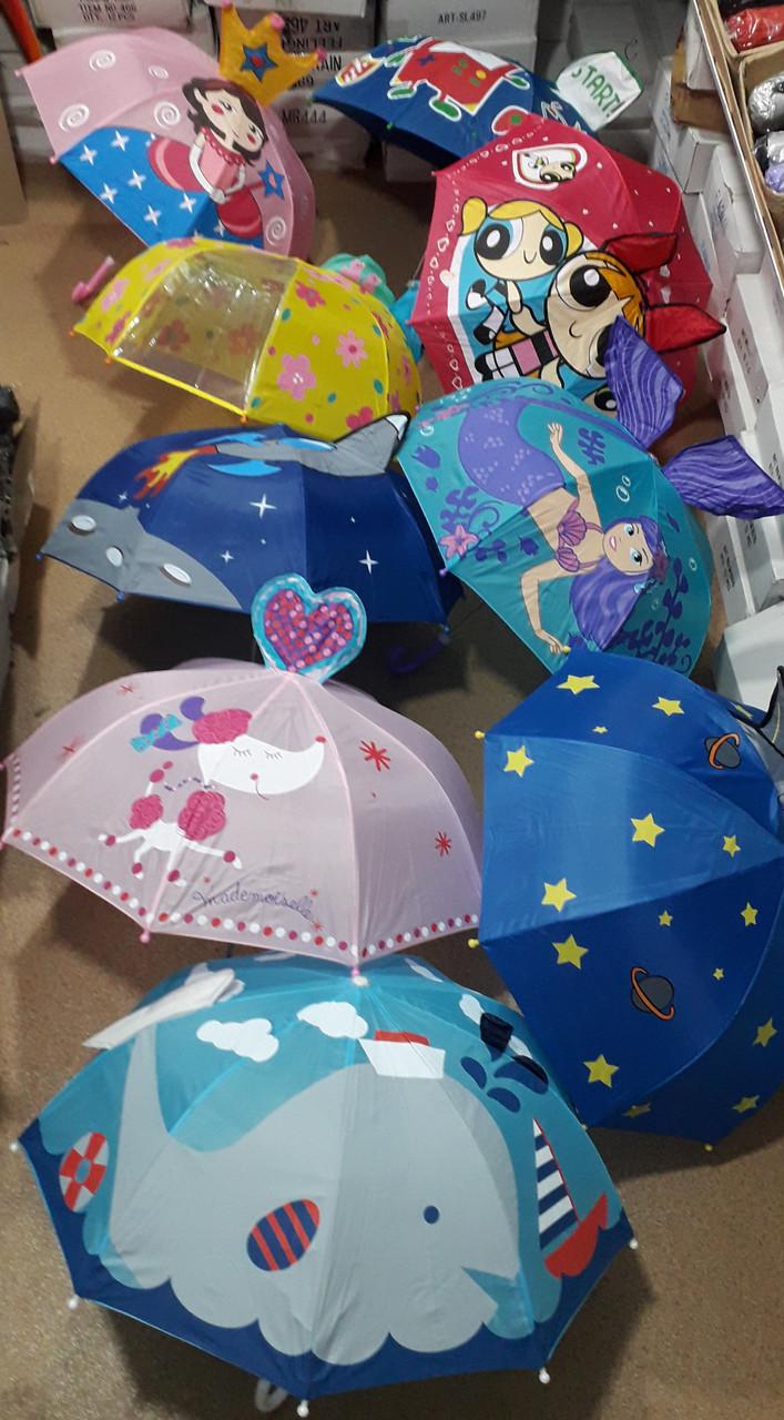 """Детский зонтик с ушками оптом для маленьких на 2-5 лет от фирмы """"Mario"""""""