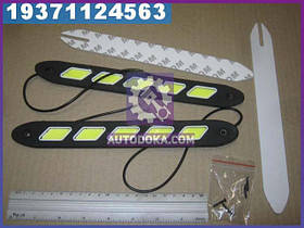 Огни ходовые дневн. 260х37х10mm COB-светодиод 40ш (сплошное свечение), цвет белый, 12V (производство  Китай)  1100319073