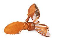 Босоножки для бальных танцев A 2100-25, 5,5 и 7,5 см каблук Кедр