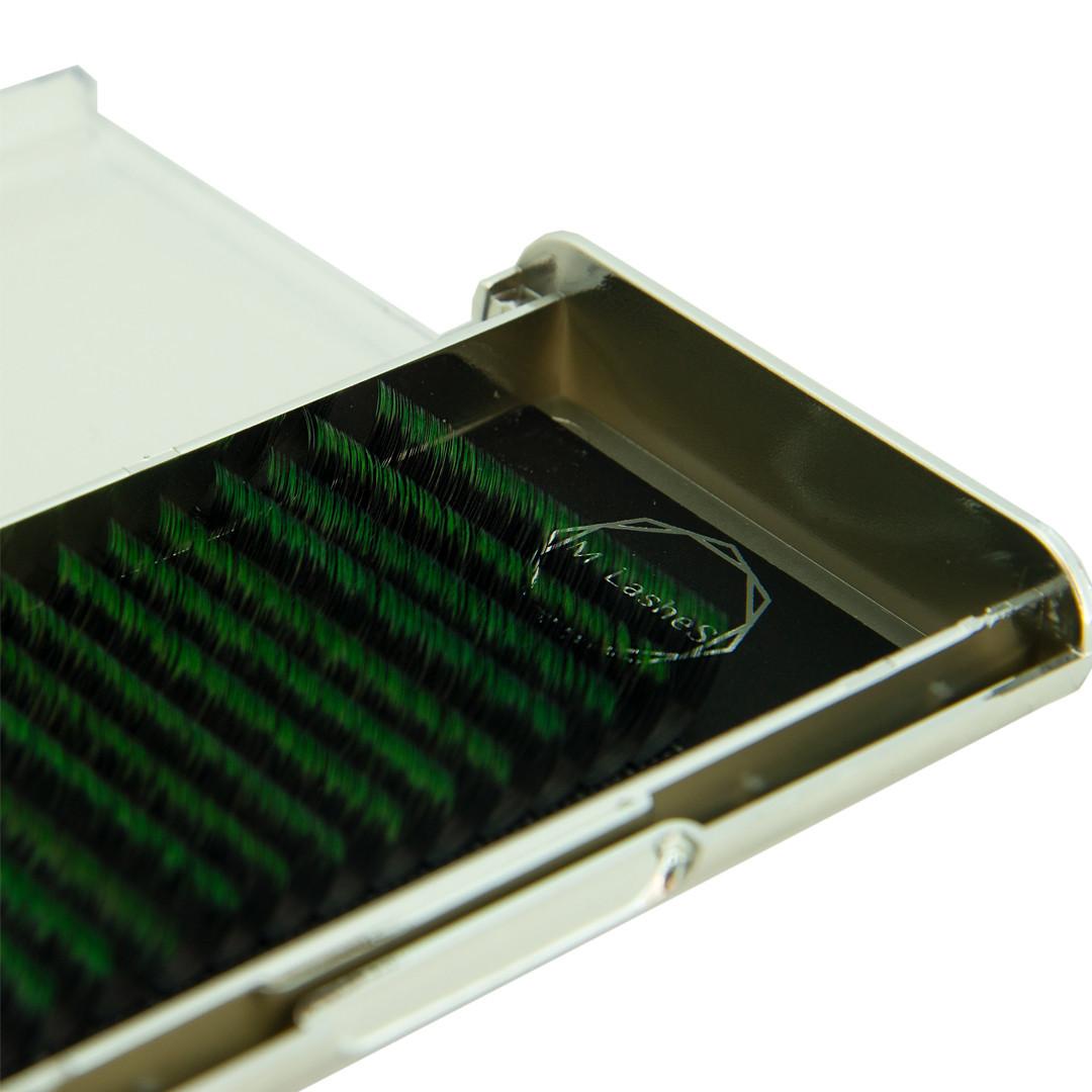 Ресницы омбре M-Lashes микс C 007, 8-15 зеленый