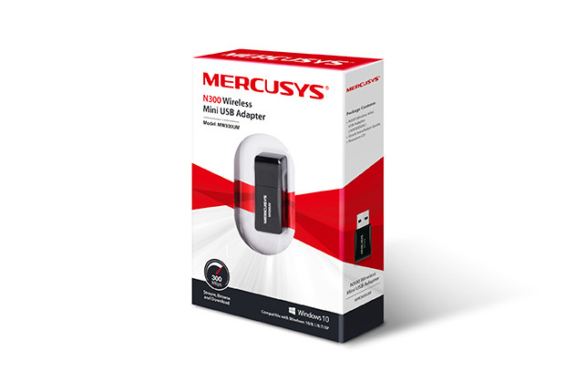 Сетевой адаптер Mercusys MW300UM (N300, USB)
