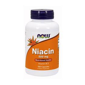 Ніацин Now Foods Niacin 500 mg (100 кап) нау фудс