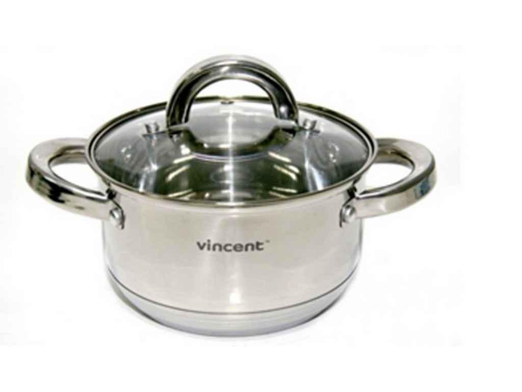 Кастрюля из нержавеющей стали Vincent 2,2 литра (VC-3168-16)