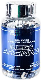 Л-Аргінін Scitec Nutrition Mega Arginine (90 капсул) скайтек нутришн мега