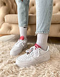 🔥 Кроссовки женские спортивные повседневные Nike Air Force 1 LX, (Найк эир форс белые)), фото 9