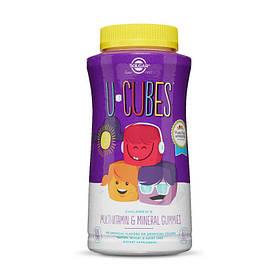Вітаміни для дітей Solgar U-Cubes children's Multi-Vitamin & Mineral (60 жувачек) солгар