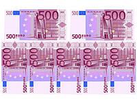 Печать съедобного фото - Формат А4 - Вафельная бумага - Евро 7 шт.