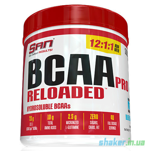 БЦАА SAN BCAA Pro Reloaded (456 г) сан  blue raspberry