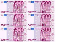 Печать съедобного фото - Формат А4 - Вафельная бумага - Евро 6 шт.