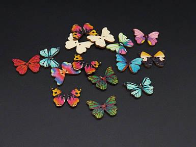Дерев'яна заготовка. Метелик. Колір мікс. 28х21мм