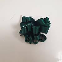 Резинка бантики зеленые пара