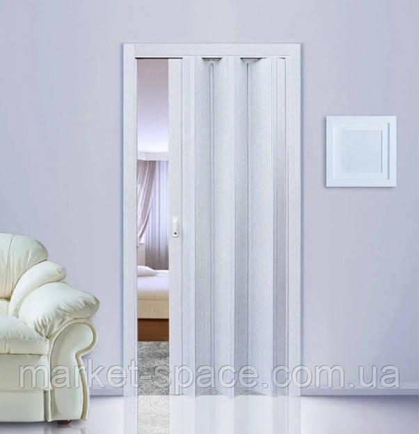 Дверь гармошка. Цвет: белое дерево №610 2030мм/1000мм/6мм