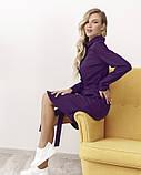 Фиолетовое платье-рубашка на пуговицах M, фото 2