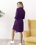 Фиолетовое платье-рубашка на пуговицах M, фото 3