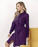 Фиолетовое платье-рубашка на пуговицах M, фото 4