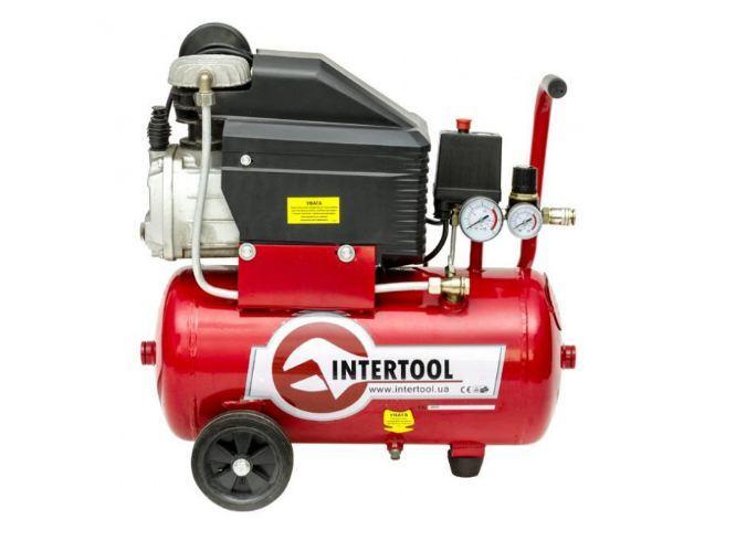 Компрессор 24 л, 8 атм, 206 л/мин INTERTOOL PT-0010