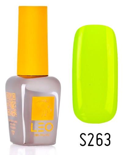 Гель-лак для ногтей LEO seasons №263 Плотный неоновый желтый (эмаль) 9 мл