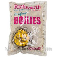Бойли Richworth Banana Toffee - Original Boilies -1 кг діаметр 15 мм