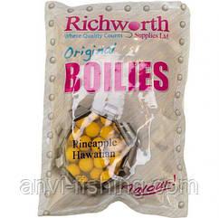 """Бойли Richworth Original Boilies """"Pineapple Hawaiian"""" (Ананас) - 1 кг діаметр 15 мм"""