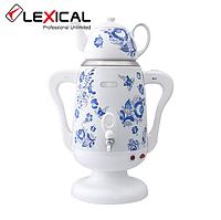 Электрический самовар LEXICAL LSV-0801 1800W с керамическим заварочным чайником, Белый, Черный, фото 1